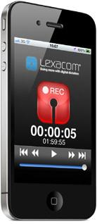Lexacom app on iPhone